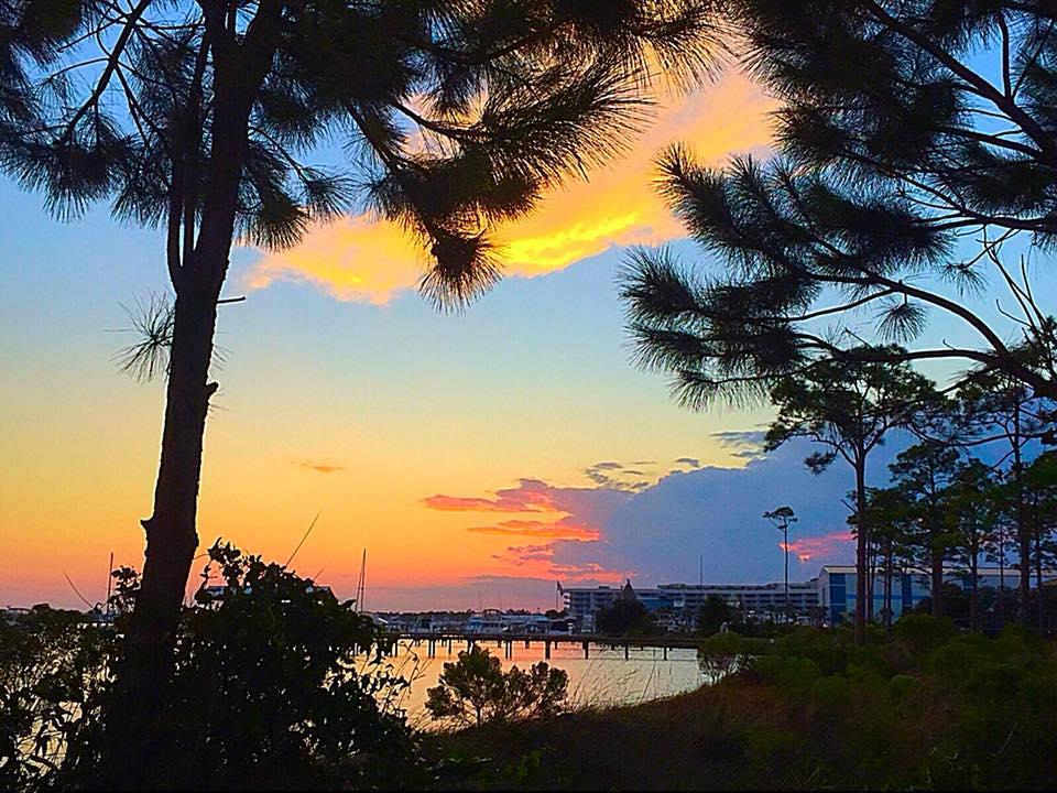 Orange Beach at Sunset