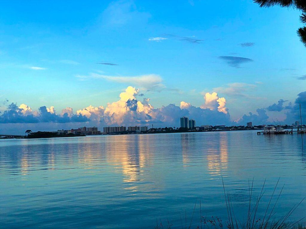 Orange Beach Pre-Dawn: Distant Storms Build